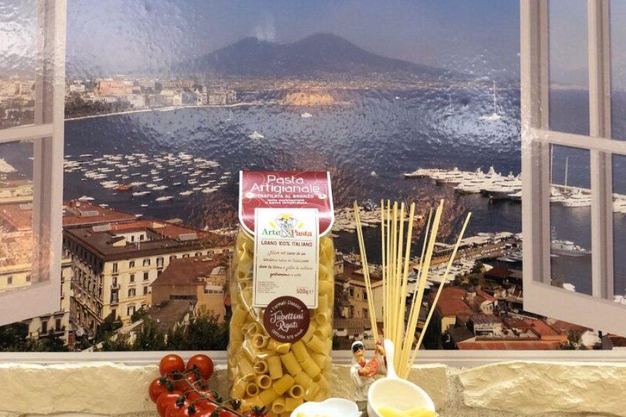 "Pasta Artigianale aus Campanien ""Tubettoni Rigati"""