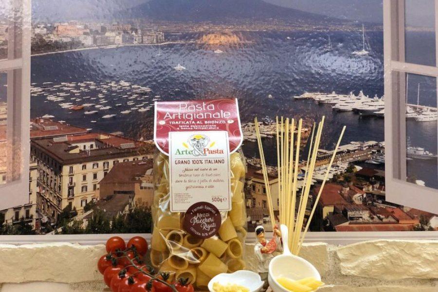 "Pasta Artigianale aus Campanien ""Mezzi Paccheri Rigati"""